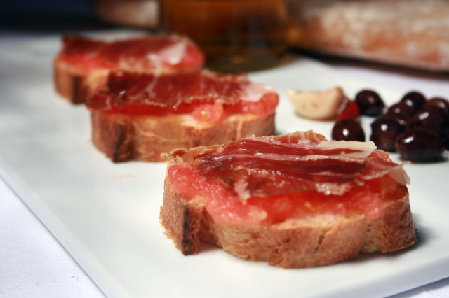 Tomato Bread and Jamón Iberico