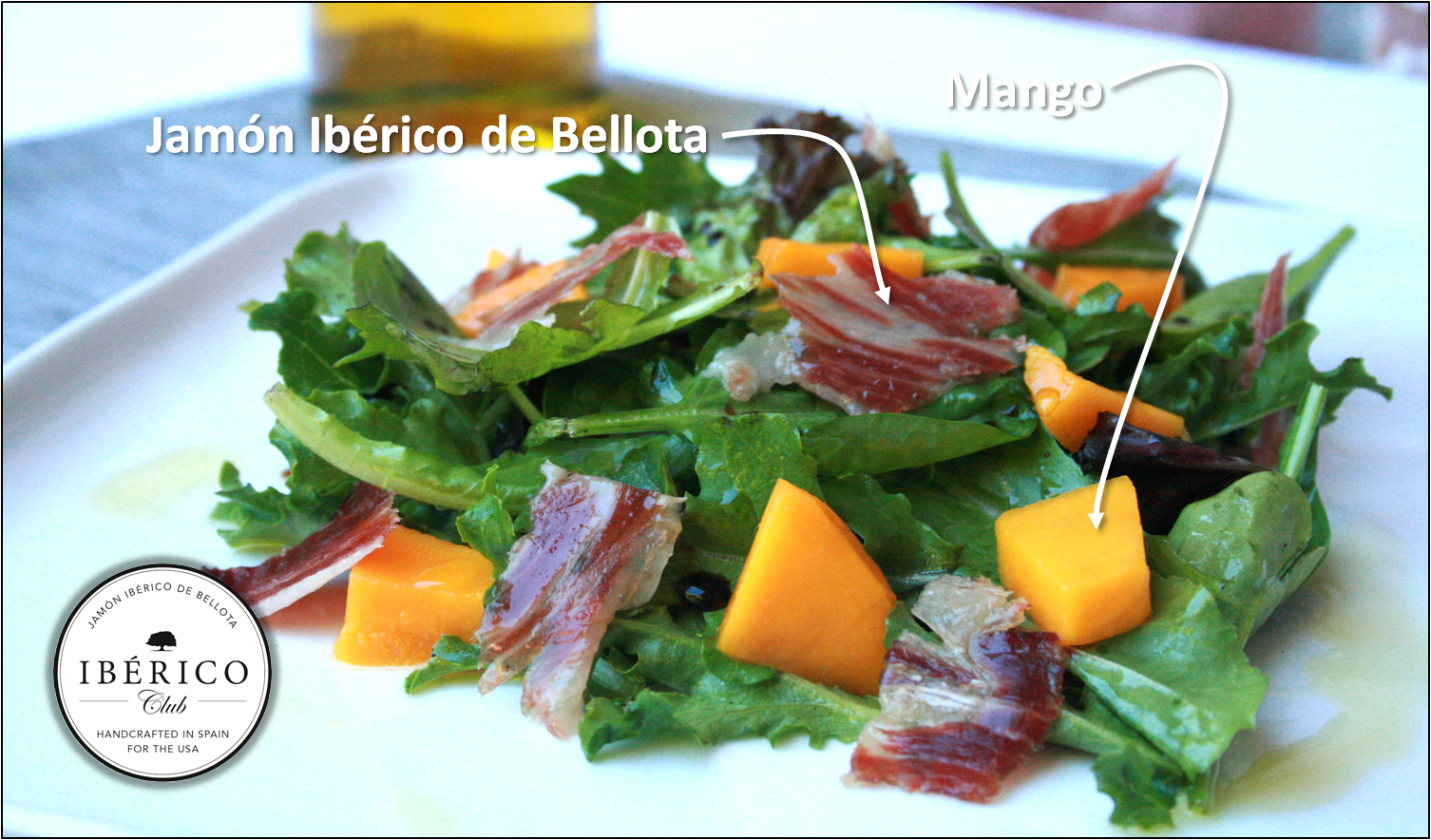 Jamón Ibérico & Mango salad [Beautiful, Simple, Delicious]