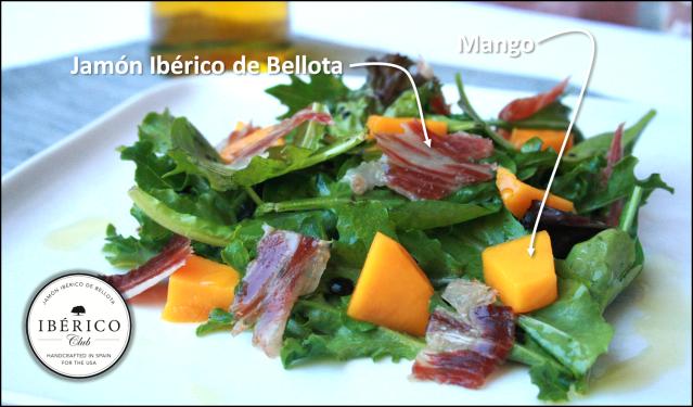 Jamón Ibérico & Mango salad [Beautiful, Simple, Delicious]