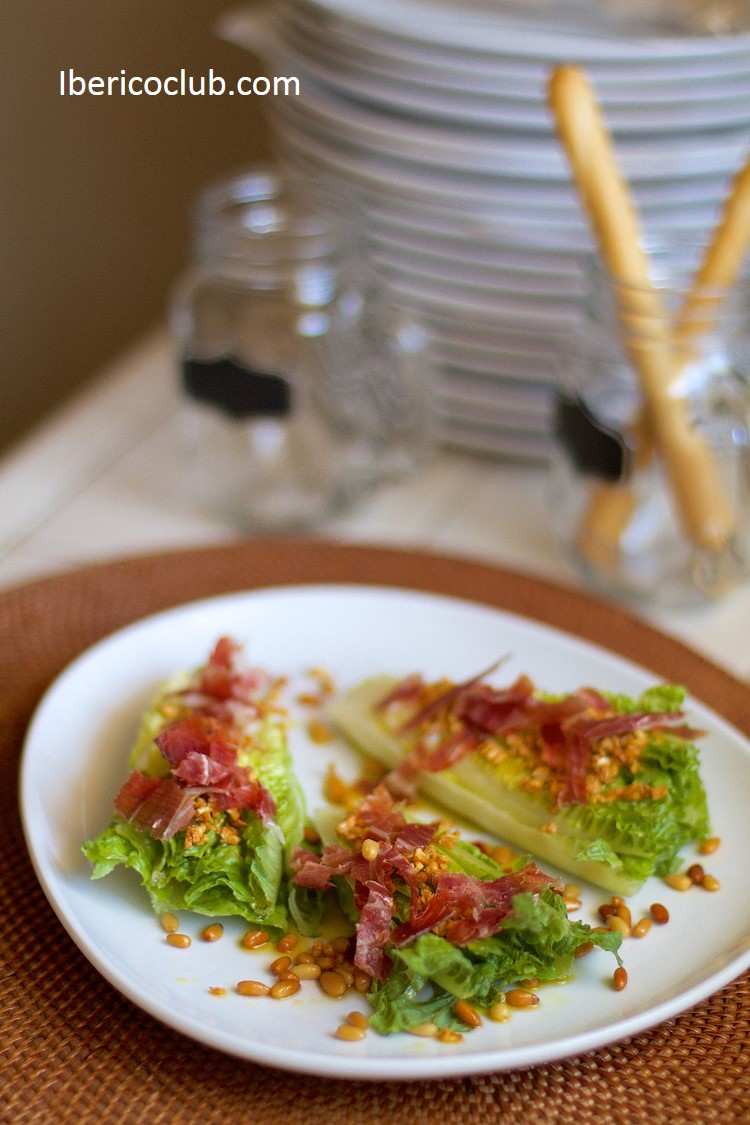 Fresh and Unique Appetizer | Jamon Iberico with romain lettuce