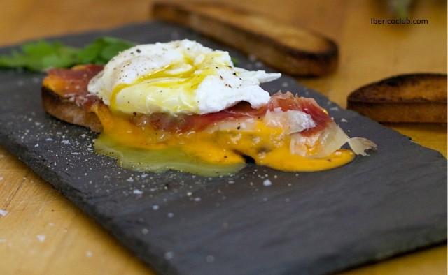 Jamon Iberico de Bellota and Poached egg