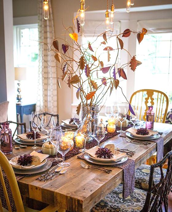 Thankful tree centerpiece thanksgiving table