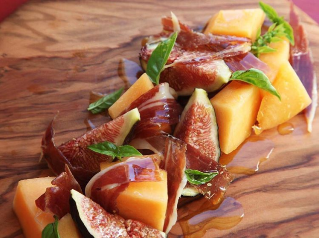 Acorn-fed Ibérico Ham with Melon and Figs